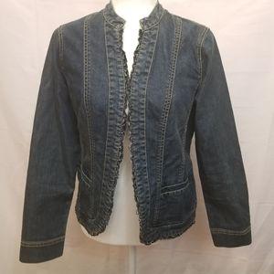 Chico's platinum blue Jean jacket